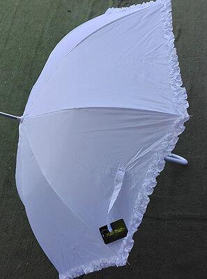dabaf5104998 ... Ombrello da sposa MATRIMONIO bianco wedding feste.. lunghezza 85CM  Diam.102CM 2