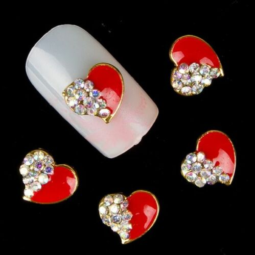 New Chic 10Pcs 3D Nail Art Glitter Decoration Colorful Alloy Rhinestones 7