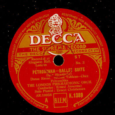 LONDON PHILH. ORCH. & ANSERMET Strawinsky: Petrouchka -Ballet Suite- 78'  GS867