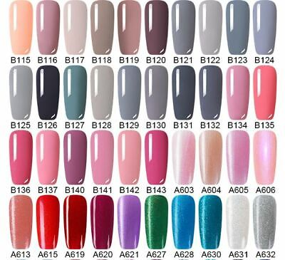 UV Nail Gel Polish Soak Off LED LEMOOC ® Colour Manicure Base Top Matte Coat 8ml 6
