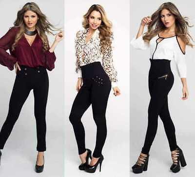 Womens Girls Stretch Denim Skinny Leggings Pants High Waist Jeans Long Trousers 3