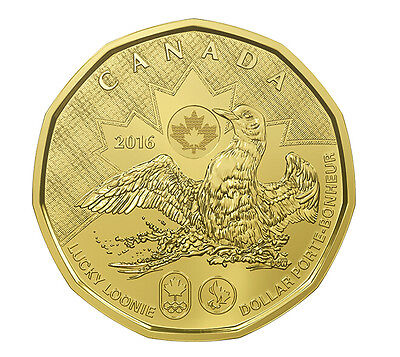 2016 Canada $1 Lucky Loonie 5-pack Olympic Dollar Circulation original Mint pack 2