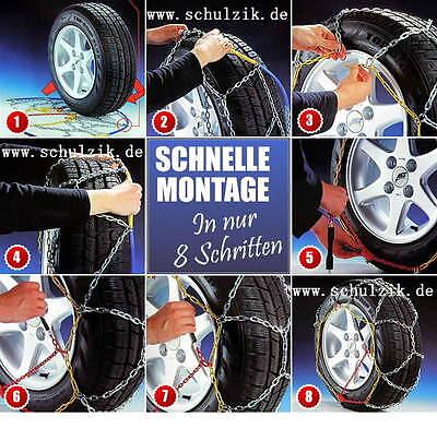 stabile Schneeketten 235/65 R 17 mit Ö-Norm VW Touareg Audi Q5+Q7Ketten 4516