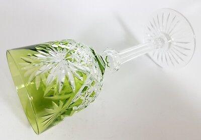 Römer Weinglas eingestochene Luftblase Handschliff Val St Lambert um 1900  AL139 9