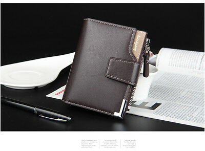 Men Leather Wallet ID Credit Card Holder Clutch Bifold Pocket Zipper Coin Purse 4