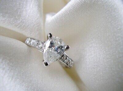 Splendide Bague Mariage Alliance 1ct Diamant Solitaire Or Blanc 18k Carat 5900e