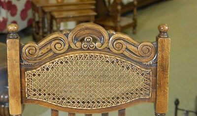 8 English William Mary Rustic Dining Chairs Barley Twist 5