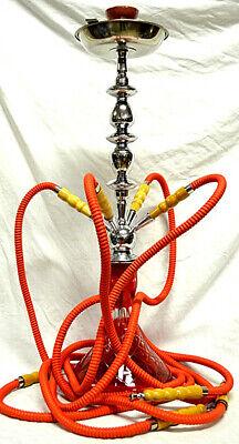 Narghilè 70 cm 4 tubi vari colori,10bocchini 8carboncini Shisha Narghile Hookah 3