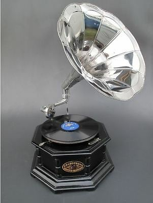 Grammophon Holz Rund In Vintage Dekoration Mahagoni Party Gag Geschenk Musikinstrumente Sammeln & Seltenes