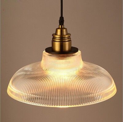 Vintage Industrial Glass Lamp Shade Pendant Ceiling Light Chandelier Fixture Bar 2