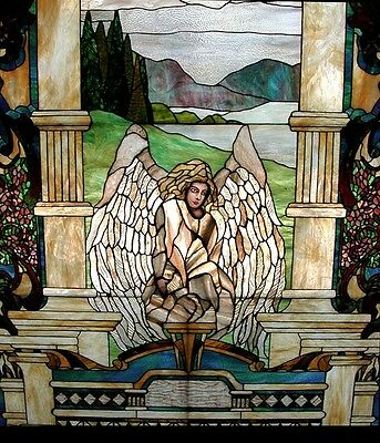 Stained Glass Window with Angel  #5839 2