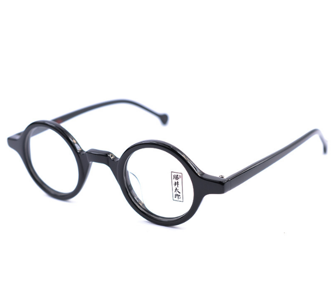 HANDMADE VINTAGE RETRO Small round Acetate Eyeglass Frames Glasses ...