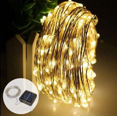 10M 20M Long LED Solar String Lights Waterproof Copper Wire Fairy Outdoor Garden 3