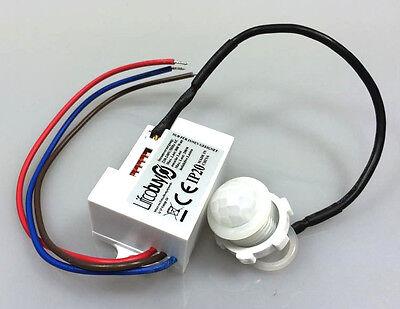 Mini Bewegungsmelder zum Einbau Sensor 230 V Unterputz für LED bis 800W PIR 2