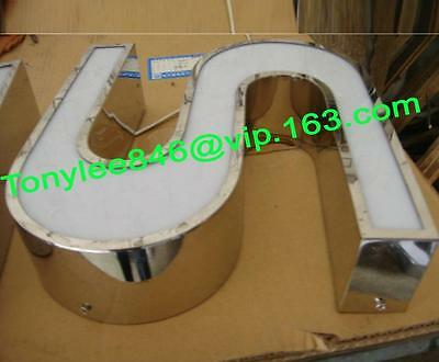 customized led lighting sign letters,building signage channel letters 12'' 4