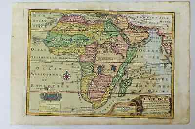 1717 African Continent Old Map / N.DEFFERT / very rare !! 7