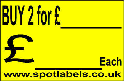Large Self Adhessive  Sticky Price Labels Stickers Promotion Labels Personalised 8