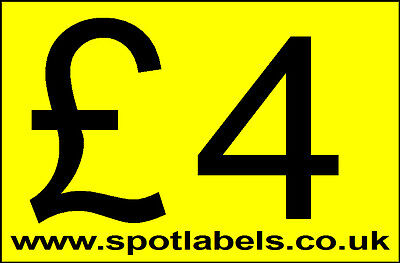 Large Self Adhessive  Sticky Price Labels Stickers Promotion Labels Personalised 6