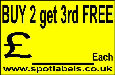 Large Self Adhessive  Sticky Price Labels Stickers Promotion Labels Personalised 10