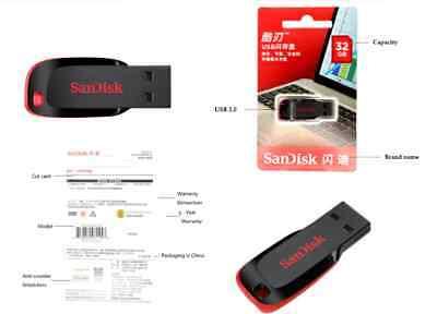 Clé USB 8 Go SanDisk CZ50 Cruzer Blade USB 2.0 Memory Stick Lecteur Flash Disk 4