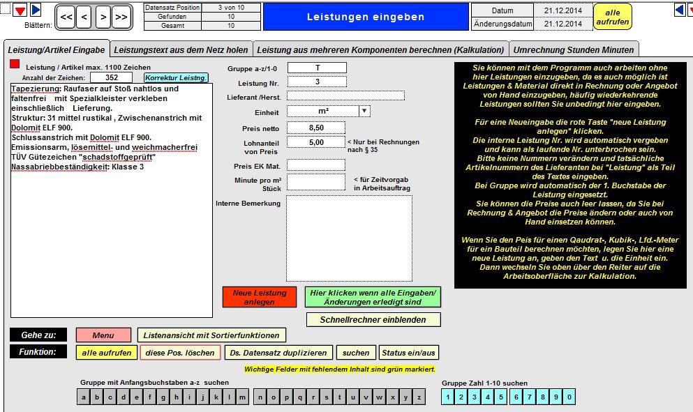 Rechnungsprogramm Handwerker Xl 7 Für Kleine Handwerksunternehmen