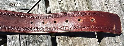 Vintage Lowenbrau Belt Buckle With Hand Tooled Leather Belt 2