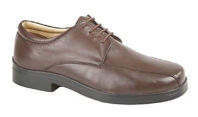 Roamers M848A Cuir 4 Eye Léger à Lacets Bottines Chaussures