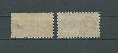 Libia 1928-29 - Francobolli di posta aerea d'Italia del 1928 - N. 2 valori MNH 2