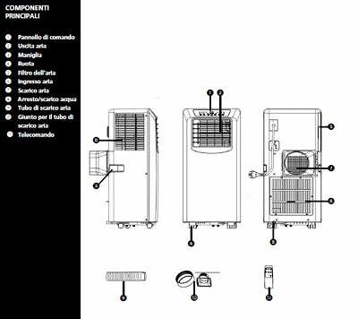 Climatizzatore Portatile 7000 Btu Modello Tectro Tp2020 Gas Ecologico R290 2