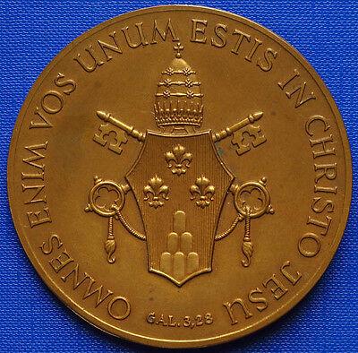 1963 Paulus Vi Pontifex Maximus 70mm Bronze Sign Bodlak Eur 49
