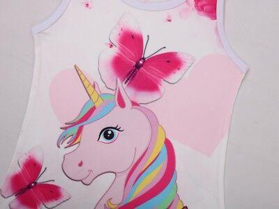 Unicorn Butterfly Girls Kids Pyjamas Nighties Night Wear Party Dress 3