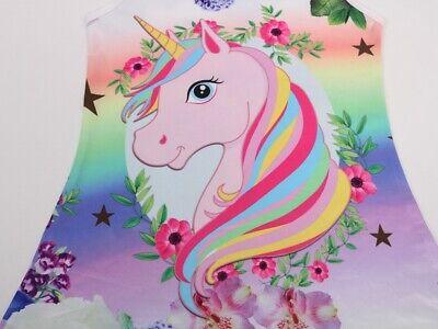 Unicorn Butterfly Girls Kids Pyjamas Nighties Night Wear Party Dress 9