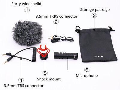 BOYA BY-MM1 Cardioid Shotgun Microphone MIC for DSLR Camera Smartphone Camcorder 10