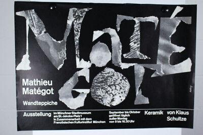 Mathieu Matégot - Klaus Schulze Plakat Ausstellung 60er Jahre Entwurf Tafelmaier 3