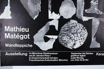 Mathieu Matégot - Klaus Schulze Plakat Ausstellung 60er Jahre Entwurf Tafelmaier 2