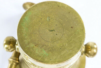 Alter Mörser mit Stößel Pistill Messing Vintage 20er 30er Jahre H14,5 cm