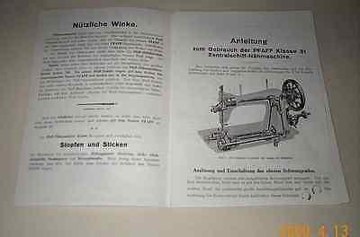 """Interess.Ratgeber z.""""PFAFF 31-Zentralschiff-Nähmaschine""""reich illustr.u-Beschrei"""