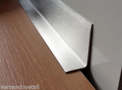 Abschlussleiste Arbeitsplatte Edelstahl : edelstahl abschlussleiste sockelblende 15x45x1500 mm 3 fach gekantet innen k320 eur 15 86 ~ Watch28wear.com Haus und Dekorationen