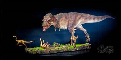 Tyrannosaurus Rex Prey Gallimimus Statue Dinosaur Model Animal Toy Collector GK 4