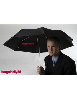 NEW Korjo Windproof Travel Umbrella Black Small 3