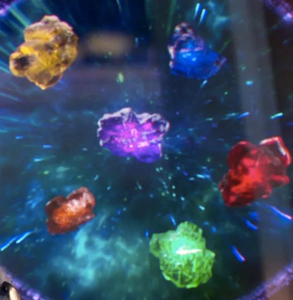 Raw Jagged Infinity Stones Thanos Cosplay Avengers (costume gauntlet gems war) 9