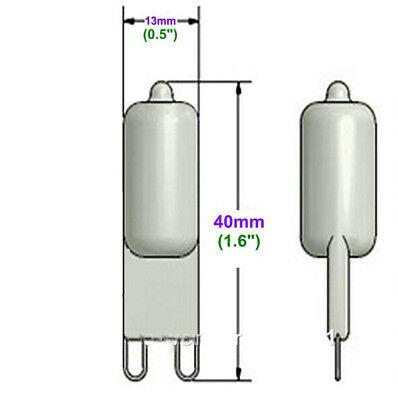 5pcs G 9 Pin Halogen 120 v volt25W 35W 40W 50W 60 Wwatt Light Bulb JCD G9