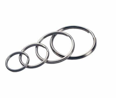 CHOOSE SMALL - EXTRA LARGE KEYRING SPLIT RINGS Metal Nickel Hoop Loop Key Holder 2