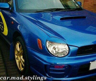Subaru Impreza Bug Eye 01-03 Black Plastic Eyebrows/Light Brows/Eyelids WRX/STI 3