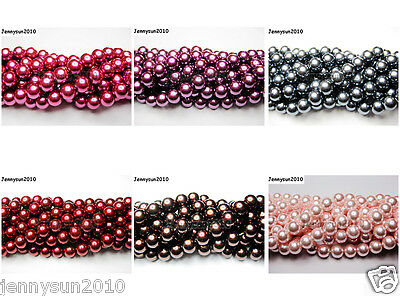 100pcs Top Quality Czech Glass Pearl Round Beads 3mm 4mm 6mm 8mm 10mm 12mm 14mm 4