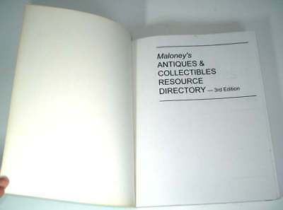 Maloney's Antiques & Collectibles:Resource Directory 3rd Edition Paperback(1995)