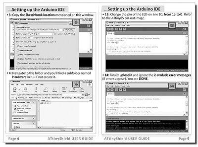 NEW ARDUINO SHIELD 4 1 ATtiny85 Programmer + FREE GIFT:1 ATtiny  85+Guide+RGB Led