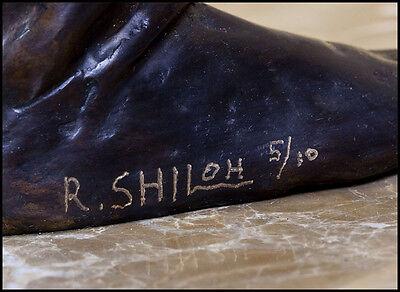 Richard Shiloh Grande Original Bronce Escultura Danza Figurative Firmado Obra 3