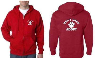 Don/'t Shop Adopt Rescue Animal Shelter Treatment Dog Cat Pet Hoodie Sweatshirt