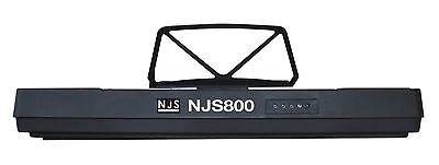NJS 61 Key Full Size Electronic Keyboard, Sheet Music Stand, Headphones, Stool 6